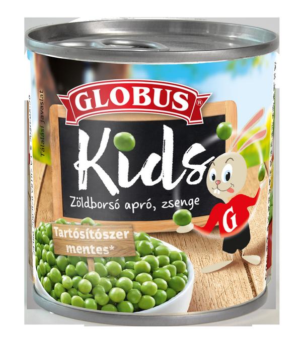 GLOBUS KIDS Zöldborsó konzerv