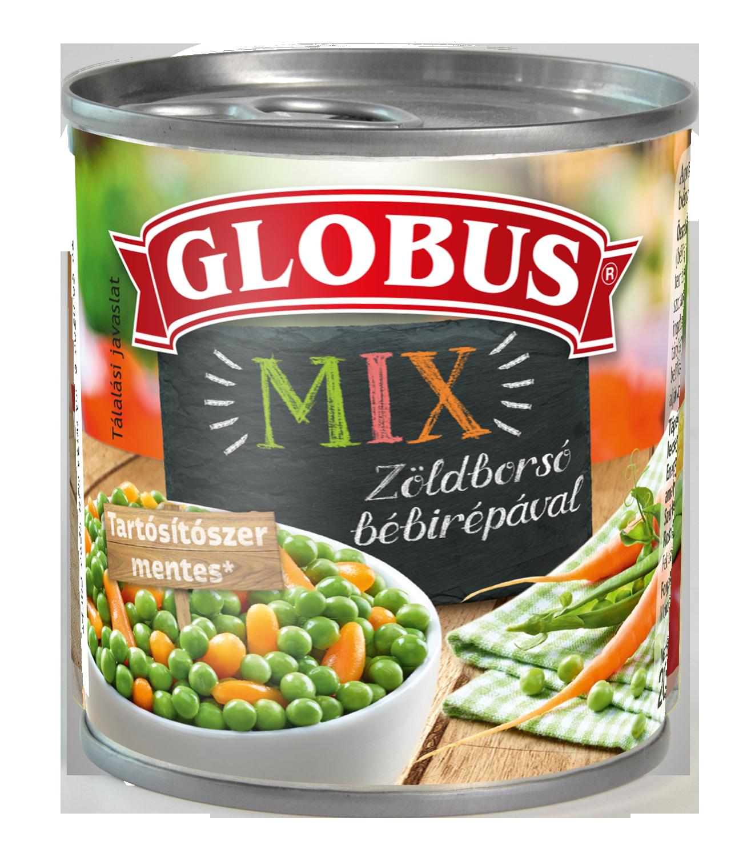 GLOBUS Zöldborsó bébirépával konzerv