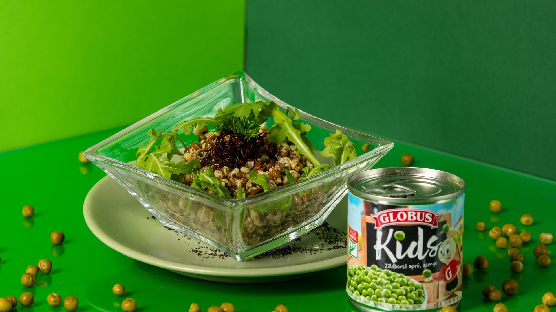 Ropogós zöldborsó gyerekeknek recept