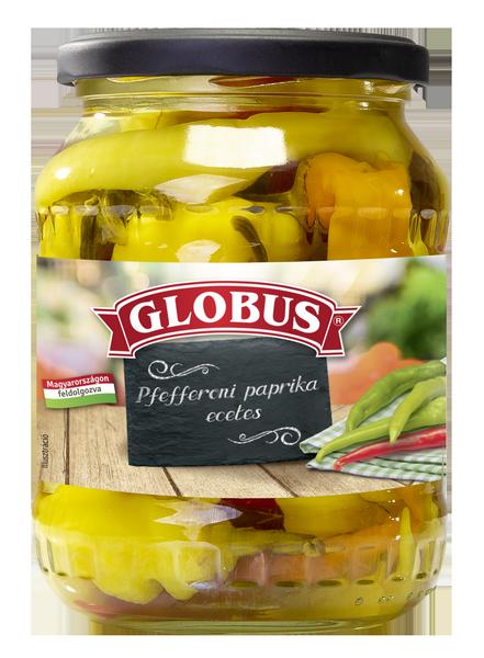 GLOBUS Pfefferoni paprika üveges