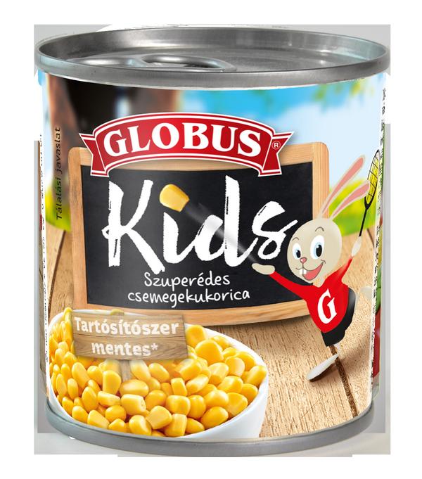 GLOBUS KIDS Szuperédes csemegekukorica konzerv