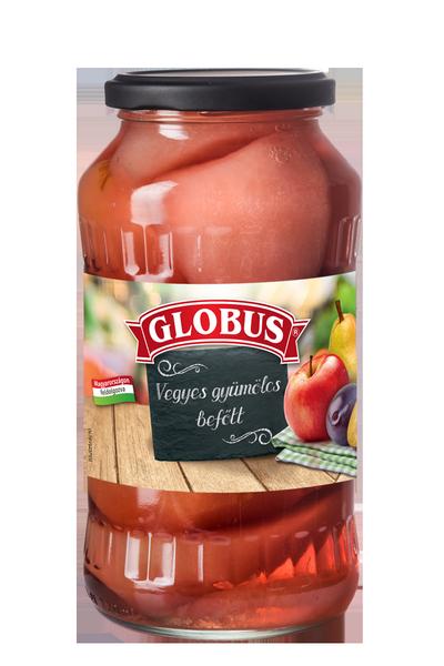 GLOBUS Vegyes gyümölcs befőtt üveges